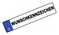 Wunschkennzeichen Kfz-Schild